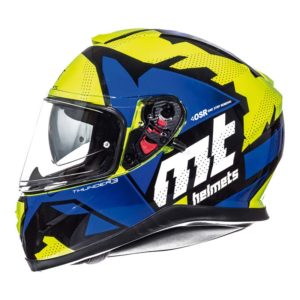 Casco MT THUNDER 3 SV TORN Azul Amarillo
