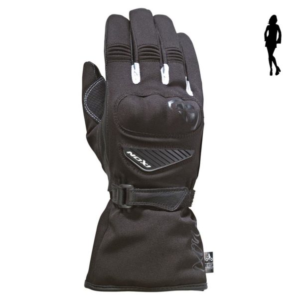 Guantes IXON PRO ARROW LADY Negro Blanco