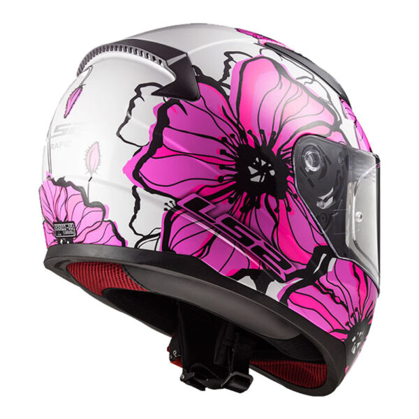 Casco LS2 FF353 RAPID POPPIES Rosa 2