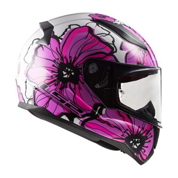 Casco LS2 FF353 RAPID POPPIES Rosa 3