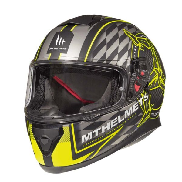Casco MT THUNDER 3 SV ISLE OF MAN Fluor 2