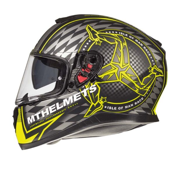 Casco MT THUNDER 3 SV ISLE OF MAN Fluor