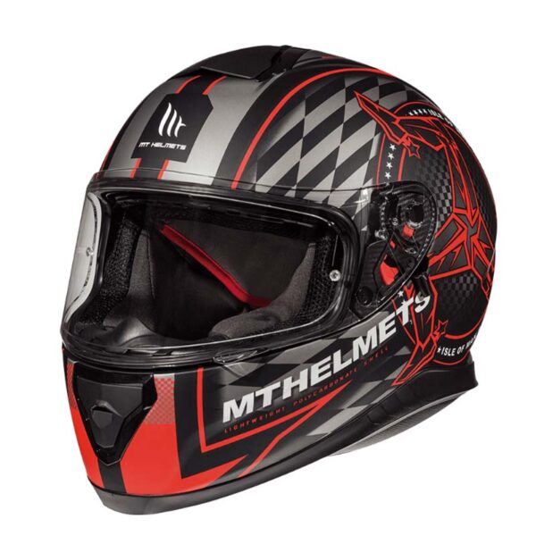 Casco MT THUNDER 3 SV ISLE OF MAN Rojo 2
