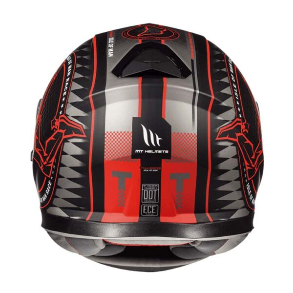 Casco MT THUNDER 3 SV ISLE OF MAN Rojo 3