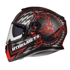 Casco MT THUNDER 3 SV ISLE OF MAN Rojo
