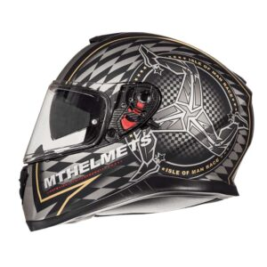 Casco MT THUNDER 3 SV ISLE OF MAN Negro