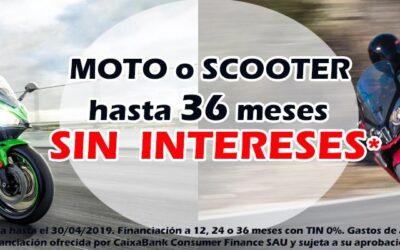 Tu moto o scooter hasta 36 meses SIN INTERESES