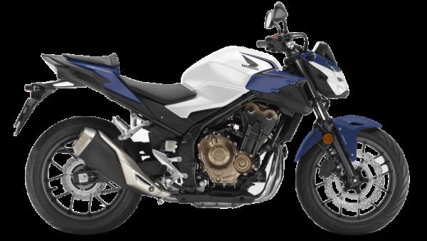 Honda CB500F Blanco Azul