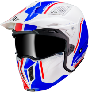 Casco MT STREETFIGHTER SV Blanco Azul